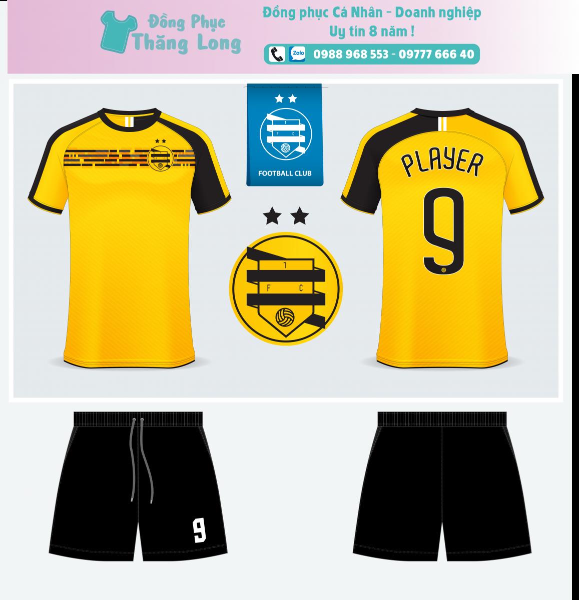 Áo bóng đá thiết kế theo yêu cầu mã số 0011