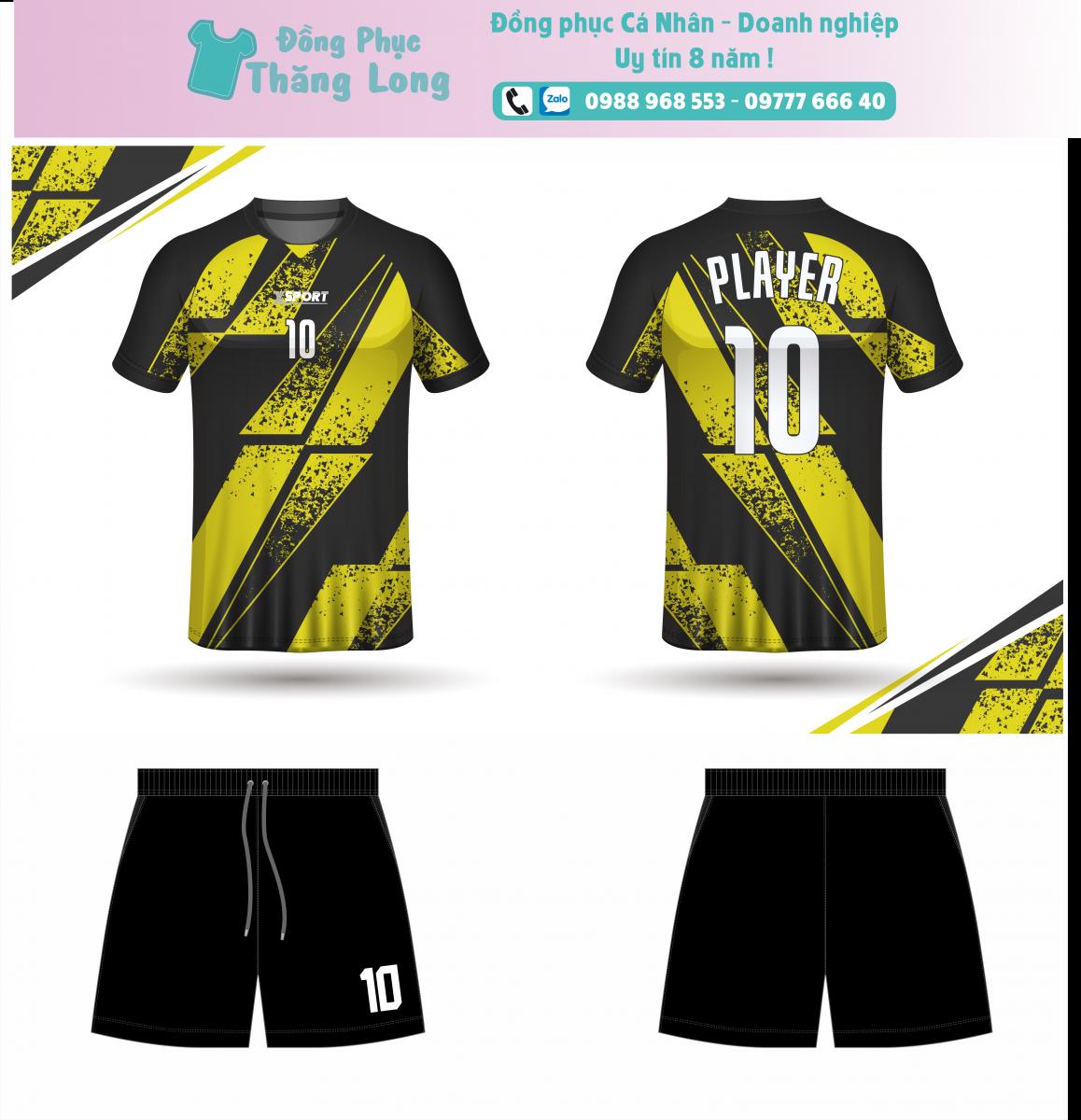 Áo bóng đá thiết kế theo yêu cầu mã số 0014