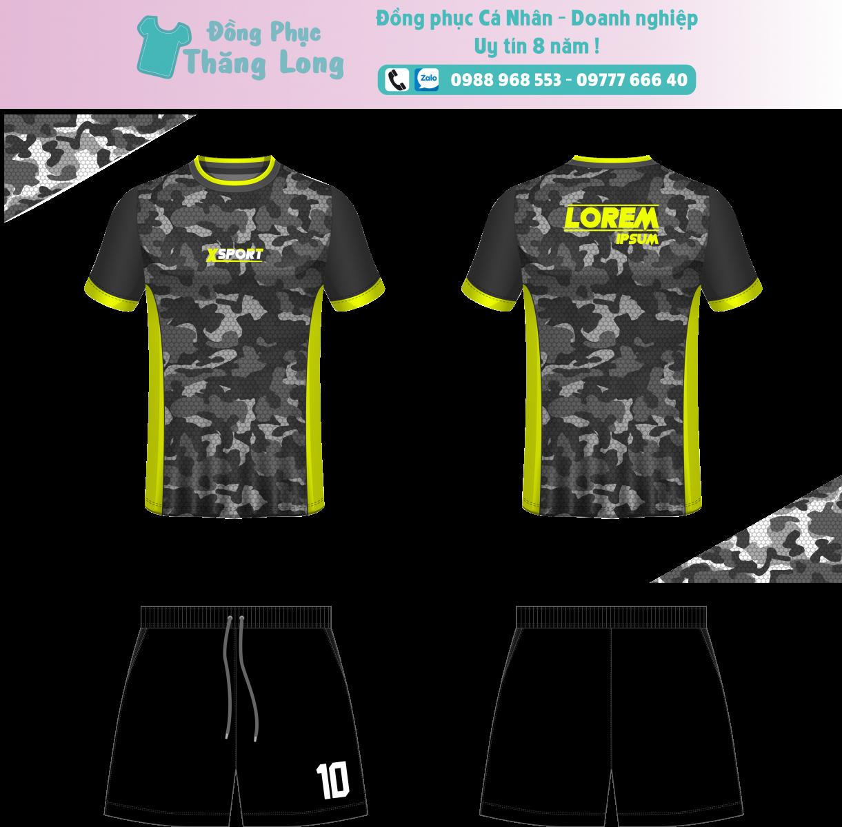 Áo bóng đá thiết kế theo yêu cầu mã số 0010