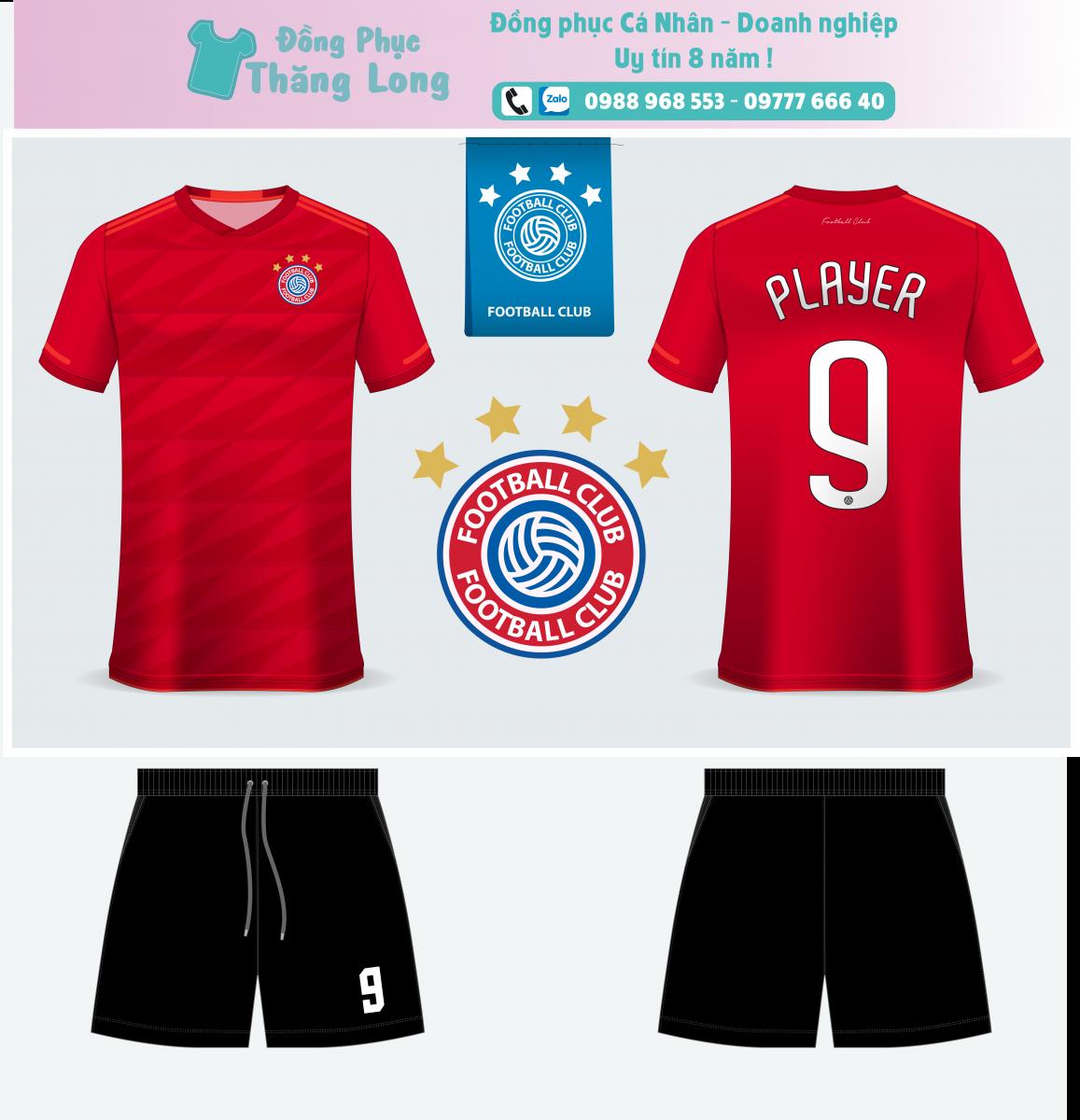 Áo bóng đá thiết kế theo yêu cầu mã số 0012