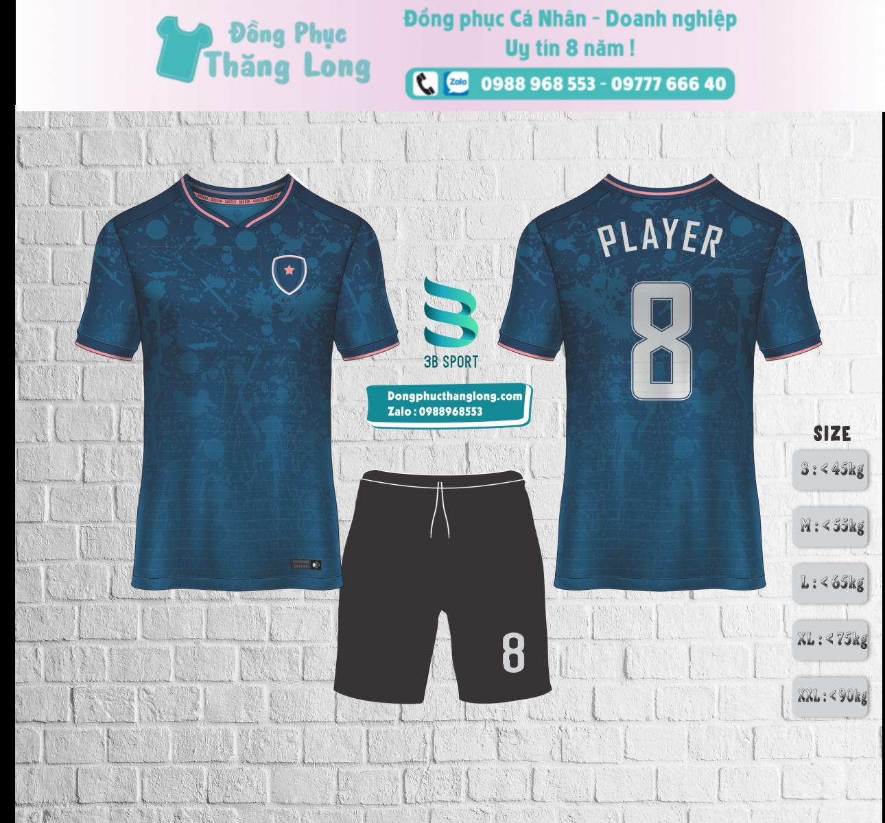 Áo bóng đá thiết kế mã số 0001